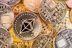 Χρυσός λαμπρός σωρός νομισμάτων Ethereum Στοκ φωτογραφίες με δικαίωμα ελεύθερης χρήσης