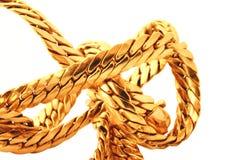 χρυσός λεπτομερειών αλυσίδων Στοκ Εικόνες