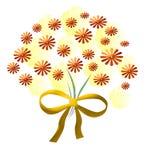 χρυσός λουλουδιών ανθ&omic Στοκ Εικόνες