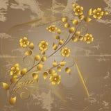 χρυσός λουλουδιών Στοκ φωτογραφία με δικαίωμα ελεύθερης χρήσης