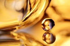 χρυσός μαρμάρινος καθρέφτ&et στοκ εικόνα