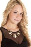 Χρυσός μαύρος ξανθός περιδεραίων Στοκ Εικόνες