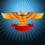 Χρυσός μετάλλων αετών Στοκ Εικόνες