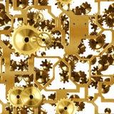 Χρυσός μηχανισμού άνευ ραφής Στοκ φωτογραφίες με δικαίωμα ελεύθερης χρήσης