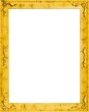 χρυσός μοντέρνος πλαισίων λουλουδιών Στοκ Εικόνες