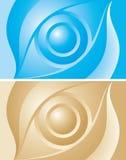 χρυσός μπλε ματιών ανασκόπ&et Στοκ φωτογραφία με δικαίωμα ελεύθερης χρήσης