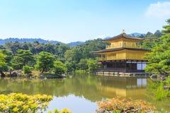 Χρυσός ναός ναών Kinkakuji στο Κιότο, Ιαπωνία Στοκ φωτογραφία με δικαίωμα ελεύθερης χρήσης