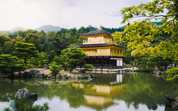 Χρυσός ναός ναών Kinkakuji Στοκ Φωτογραφίες