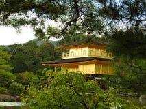 Χρυσός ναός σε Kjoto Στοκ Φωτογραφία