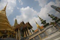Χρυσός ναός στη Μπανγκόκ, Ασία Στοκ Εικόνες