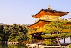 Χρυσός ναός στη χειμερινή εποχή στοκ εικόνα