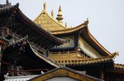 Χρυσός ναός τούβλου Στοκ εικόνα με δικαίωμα ελεύθερης χρήσης