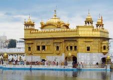 Χρυσός ναός Amritsar, Ινδία Στοκ Εικόνες