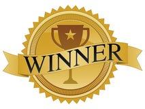 χρυσός νικητής σφραγίδων ελεύθερη απεικόνιση δικαιώματος