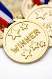 χρυσός νικητής Στοκ Εικόνες