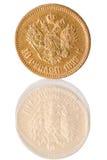 χρυσός νομισμάτων καθαρός Στοκ φωτογραφία με δικαίωμα ελεύθερης χρήσης