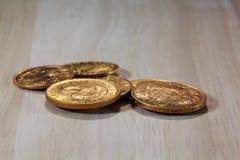 χρυσός νομισμάτων παλαιός Στοκ Φωτογραφίες