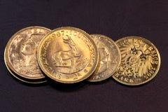 χρυσός νομισμάτων παλαιός Στοκ φωτογραφία με δικαίωμα ελεύθερης χρήσης