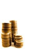 χρυσός νομισμάτων που απ&omicron Στοκ εικόνα με δικαίωμα ελεύθερης χρήσης