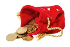 χρυσός νομισμάτων τσαντών Στοκ Φωτογραφίες