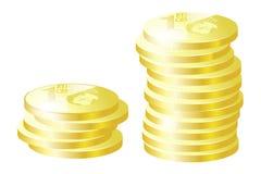 χρυσός νομισμάτων Στοκ φωτογραφία με δικαίωμα ελεύθερης χρήσης