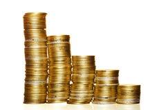 χρυσός νομισμάτων Στοκ Φωτογραφίες