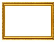 χρυσός οριζόντιος πλαισί& Στοκ Φωτογραφίες