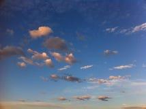 χρυσός ουρανός σύννεφων Στοκ φωτογραφίες με δικαίωμα ελεύθερης χρήσης
