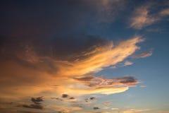 χρυσός ουρανός Στοκ Εικόνες