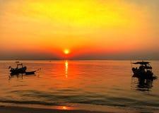 Χρυσός ουρανός shage στη θάλασσα Στοκ Εικόνες