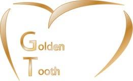 Χρυσός οδοντίατρος λογότυπων δοντιών στοκ φωτογραφίες