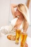 χρυσός πίνακας μπύρας Στοκ Εικόνα