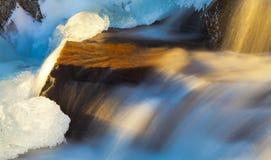 Χρυσός παγωμένος καταρράκτης Στοκ εικόνες με δικαίωμα ελεύθερης χρήσης