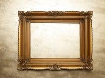χρυσός παλαιός τοίχος ε&iota Στοκ Εικόνα
