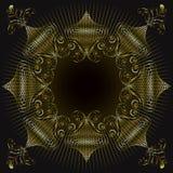 χρυσός περίκομψος στρόβι&l απεικόνιση αποθεμάτων