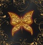 χρυσός πεταλούδων Στοκ Εικόνες