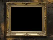 χρυσός πλαισίων αναδρομι στοκ εικόνα με δικαίωμα ελεύθερης χρήσης