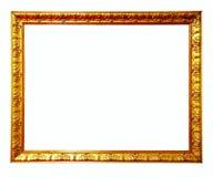 χρυσός πλαισίων ανασκόπησης που απομονώνεται πέρα από το λευκό εικόνων Στοκ εικόνα με δικαίωμα ελεύθερης χρήσης