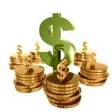 χρυσός πλούτος χρημάτων απεικόνιση αποθεμάτων