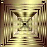 χρυσός που αφήνει τα τετρά Στοκ Εικόνα