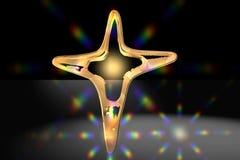 χρυσός που διευκρινίζεται διαγώνιος διανυσματική απεικόνιση