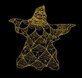 Χρυσός που πετιέται του φαντάσματος σε ένα μαύρο υπόβαθρο ελεύθερη απεικόνιση δικαιώματος
