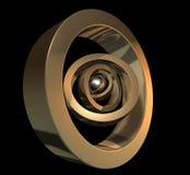 χρυσός πυρήνων Στοκ εικόνες με δικαίωμα ελεύθερης χρήσης
