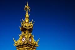 χρυσός πύργος ρολογιών, Chiang Rai Στοκ φωτογραφία με δικαίωμα ελεύθερης χρήσης