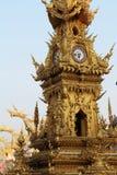 Χρυσός πύργος ρολογιών στην Ταϊλάνδη Στοκ Φωτογραφία