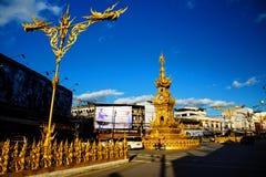 χρυσός πύργος ρολογιών, Chiang Rai Στοκ Φωτογραφία