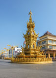 Χρυσός πύργος ρολογιών Rai's Chiang Στοκ εικόνα με δικαίωμα ελεύθερης χρήσης