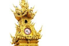 Χρυσός πύργος ρολογιών Rai Chiang Στοκ εικόνα με δικαίωμα ελεύθερης χρήσης