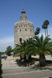 χρυσός πύργος της Σεβίλλ& Στοκ φωτογραφία με δικαίωμα ελεύθερης χρήσης