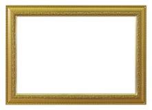 Χρυσός πλαισίων και απομονωμένο τρύγος υπόβαθρο Στοκ Εικόνα